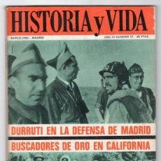Coleccionismo de Revista Historia y Vida: REVISTA MENSUAL HISTORIA Y VIDA. AÑO III. Nº 31. MADRID BARCELONA OCTUBRE DE 1970. Lote 15165490