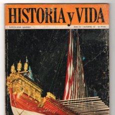 Coleccionismo de Revista Historia y Vida: REVISTA MENSUAL HISTORIA Y VIDA. AÑO IV. Nº 43. MADRID BARCELONA OCTUBRE DE 1971. Lote 15165620