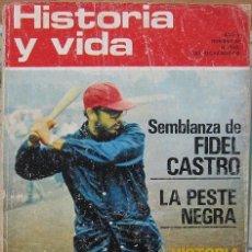 """Coleccionismo de Revista Historia y Vida: REVISTA """"HISTORIA Y VIDA"""" (Nº 48–MARZO 1972). FIDEL CASTRO-LA PESTE NEGRA. Lote 38862447"""
