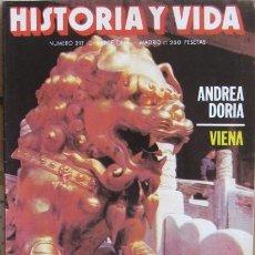 """Coleccionismo de Revista Historia y Vida: REVISTA """"HISTORIA Y VIDA"""" (Nº 217–ABRIL 1986). ANIMALES IMAGINARIOS - ANDREA DORIA. Lote 38871466"""