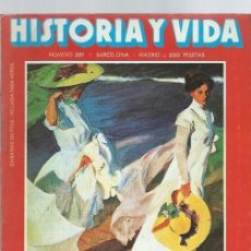 Coleccionismo de Revista Historia y Vida: HISTORIA Y VIDA Nº 221, AÑO XIX, AGOSTO 1986, LARRA Y LOS MITOS DE LA HISTORIA, PICO DELLA MIRANDOLA. Lote 39914012
