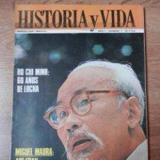 Coleccionismo de Revista Historia y Vida: HISTORIA Y VIDA. HO CHI MINH: 60 AÑOS DE LUCHA. Nº 5 - DIVERSOS AUTORES. Lote 35335409