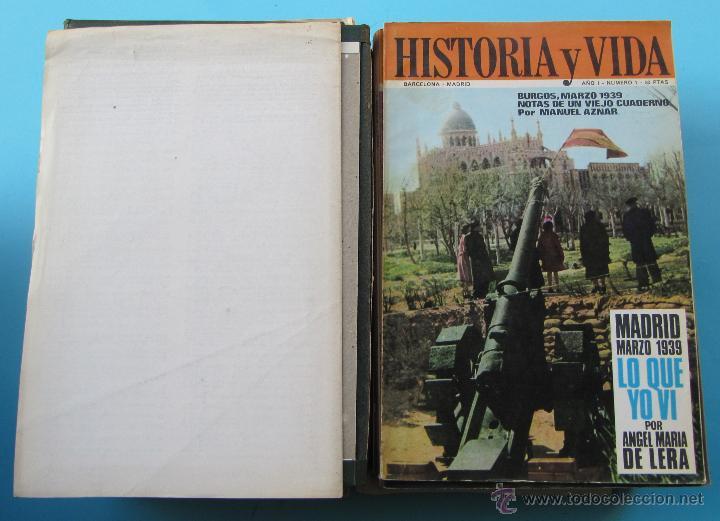 Coleccionismo de Revista Historia y Vida: HISTORIA Y VIDA LOS 39 PRIMEROS NÚMEROS MENOS UNO. CON LAS TAPAS. ABRIL DE 1968 A JUNIO DE 1971. - Foto 2 - 40516495
