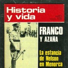 Coleccionismo de Revista Historia y Vida: REVISTA HISTORIA Y VIDA FRANCO Y AZAÑA. Lote 41082493