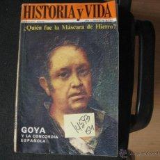 Coleccionismo de Revista Historia y Vida: GOYA Y LA CONCORDIA ESPAÑOLAHISTORIA Y VIDA NR 1819692,00. Lote 41899808