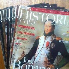 Colecionismo da Revista Historia y Vida: REVISTA HISTORIA Y VIDA, LOTE 3 REVISTAS, NUMEROS 450, 476, 481. Lote 68559262