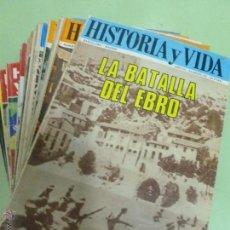 Coleccionismo de Revista Historia y Vida: HISTORIA Y VIDA (21 NÚMEROS) (AÑOS 1970 A 1978). Lote 44728662