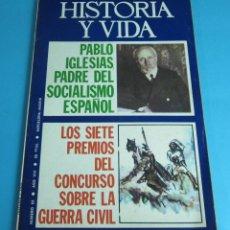 Coleccionismo de Revista Historia y Vida: PABLO IGLESIAS, EL PADRE DEL SOCIALISMO ESPAÑOL. HISTORIA Y VIDA Nº 83. Lote 44736978