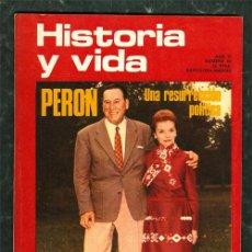 Coleccionismo de Revista Historia y Vida: PERON / HISTORIA DEL TABACO REVISTA HISTORIA Y VIDA. Lote 47196732