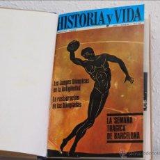 Coleccionismo de Revista Historia y Vida: REVISTA HISTORIA Y VIDA. 5 NÚMEROS ENCUADERNADOS. NÚMEROS 7 AL 12 (OCTUBRE 1968-MARZO 1969). Lote 49601749