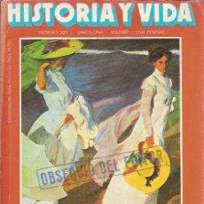 Coleccionismo de Revista Historia y Vida: REVISTA HISTORIA Y VIDA Nº 221 AÑO XIX LOS PINTORES Y EL MAR LA ORDEN DE MALTA AGOSTO 1986. Lote 50260553