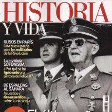 Coleccionismo de Revista Historia y Vida: HISTORIA Y VIDA N. 572 - EN PORTADA: EL ULTIMO AÑO DE FRANCO (NUEVA). Lote 164672557