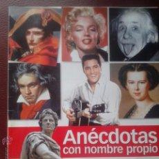 Coleccionismo de Revista Historia y Vida: ANECDOTAS CON NOMBRE PROPIO - HISTORIA Y VIDA. Lote 110090215