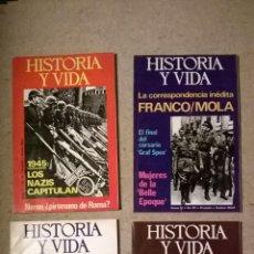 Coleccionismo de Revista Historia y Vida: HISTORIA Y VIDA - LOTE 4 REVISTAS Nº92/93/94/95 - AÑOS 1975 Y 1976. Lote 54329940