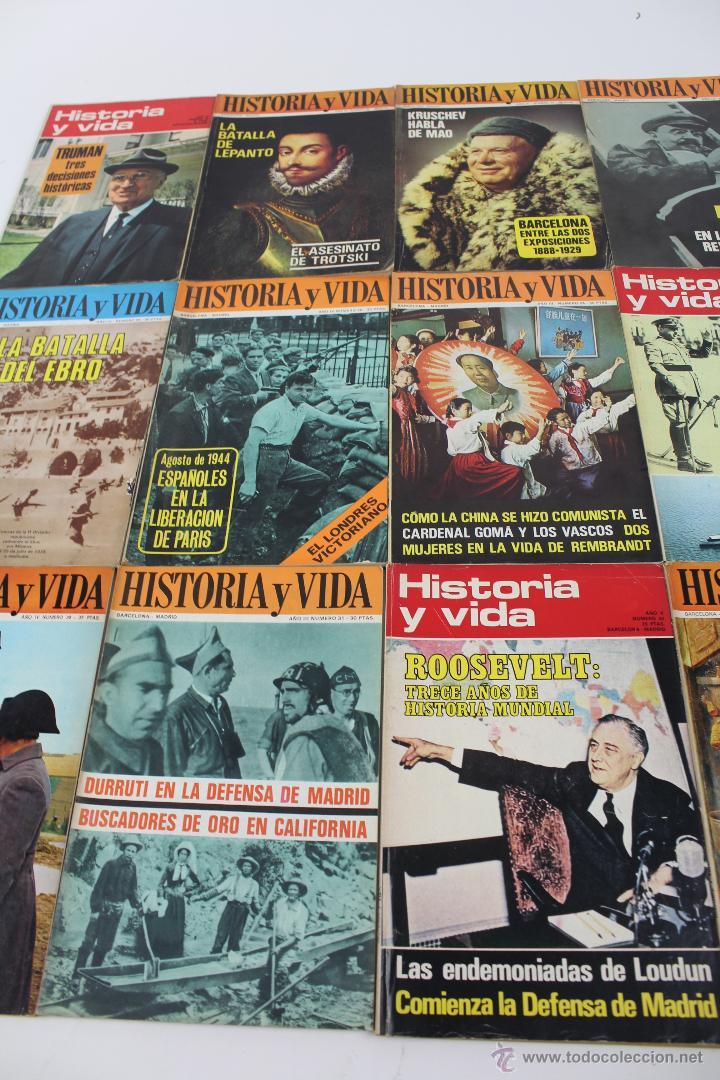 L-3335. HISTORIA Y VIDA. 23 REVISTAS COMPLETAS AÑOS 1970 A 1973. (Coleccionismo - Revistas y Periódicos Modernos (a partir de 1.940) - Revista Historia y Vida)