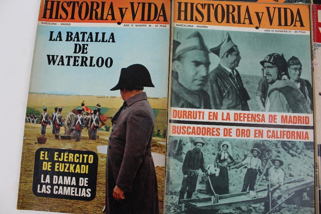 Coleccionismo de Revista Historia y Vida: L-3335. HISTORIA Y VIDA. 23 REVISTAS COMPLETAS AÑOS 1970 A 1973. - Foto 2 - 54802518