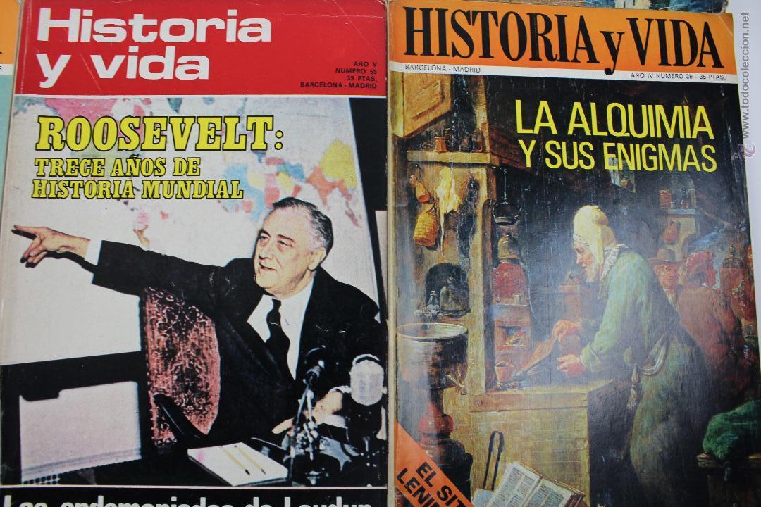 Coleccionismo de Revista Historia y Vida: L-3335. HISTORIA Y VIDA. 23 REVISTAS COMPLETAS AÑOS 1970 A 1973. - Foto 3 - 54802518