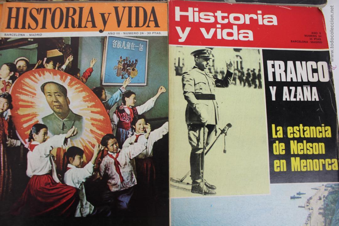 Coleccionismo de Revista Historia y Vida: L-3335. HISTORIA Y VIDA. 23 REVISTAS COMPLETAS AÑOS 1970 A 1973. - Foto 5 - 54802518