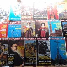 Coleccionismo de Revista Historia y Vida: 18 EJEMPLARES REVISTA HISTORIA Y VIDA. Lote 55377153