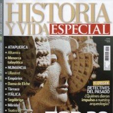 Coleccionismo de Revista Historia y Vida: HISTORIA Y VIDA ESPECIAL N. 11 - TOP 20 DE LA ARQUEOLOGIA EN ESPAÑA (NUEVA). Lote 104287002