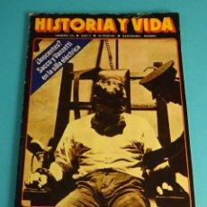 Coleccionismo de Revista Historia y Vida: HISTORIA Y VIDA Nº 110. SACCO Y VANZETTI EN LA SILLA ELÉCTRICA. BERNANOS Y LA REPRESIÓN NACIONALISTA. Lote 59531555