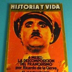 Coleccionismo de Revista Historia y Vida: HISTORIA Y VIDA Nº 100. 6 MESES: LA DESCOMPOSICIÓN DEL FRANQUISMO. EL NACIMIENTO DEL GRAN DICTADOR. Lote 59532427