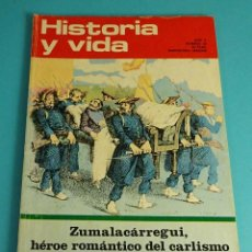 Coleccionismo de Revista Historia y Vida: HISTORIA Y VIDA Nº 52. ZUMALACÁRREGUI, HÉROE ROMÁNTICO DEL CARLISMO. MARZO 1939: NEGRÍN - CARTAGENA. Lote 59534787