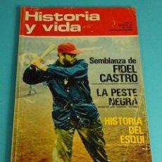 Coleccionismo de Revista Historia y Vida: HISTORIA Y VIDA Nº 48. FIDEL CASTRO. LA PESTE NEGRA. HISTORIA DEL ESQUI. Lote 59535079