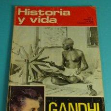 Coleccionismo de Revista Historia y Vida: HISTORIA Y VIDA Nº 47. GANDHI, INDIRA GANDHI. Lote 59535131