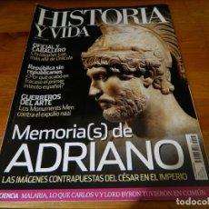 Coleccionismo de Revista Historia y Vida: REVISTA HISTORIA Y VIDA: MEMORIAS (S) DE ADRIANO. Lote 61387659