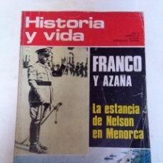 Coleccionismo de Revista Historia y Vida: HISTORIA Y VIDA 55. FRANCO Y AZAÑA. NELSON EN MENORCA. LUTERO. SAMURAIS. ROBERT-HOUDIN. UNIVERSIDAD . Lote 68359397