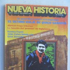 Coleccionismo de Revista Historia y Vida: NUEVA HISTORIA , Nº 20 , 1978 : QUICO SABATER Y EL MAQUIS , CALVO SOTELO, ETC. Lote 70236729
