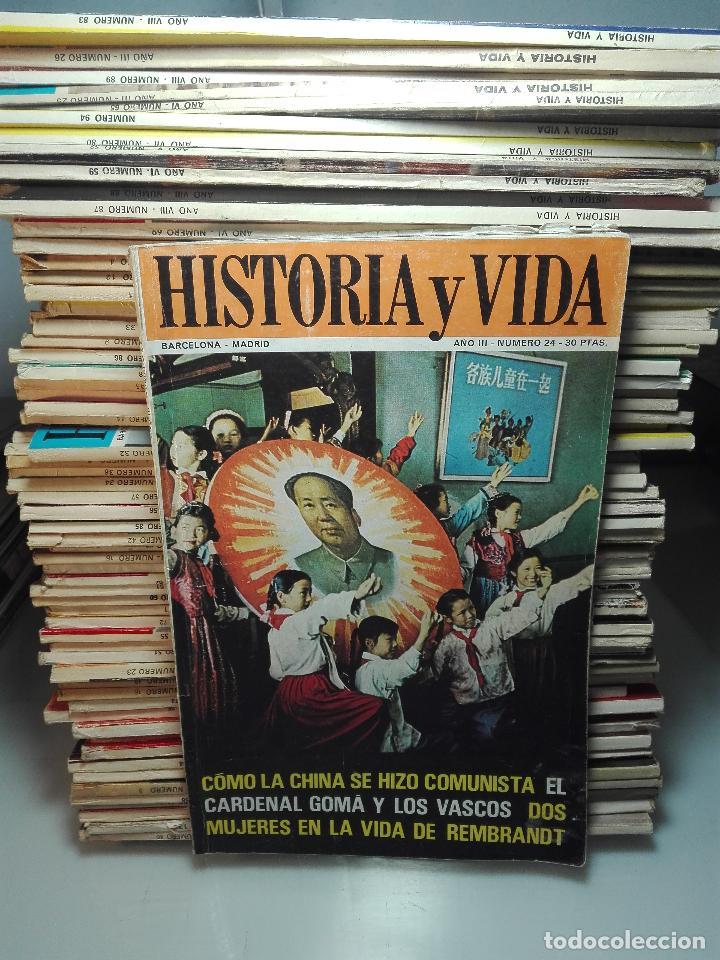TREMENDA COLECCIÓN DE 64 REVISTAS HISTORIA Y VIDA - AÑOS 60-70 - (Coleccionismo - Revistas y Periódicos Modernos (a partir de 1.940) - Revista Historia y Vida)