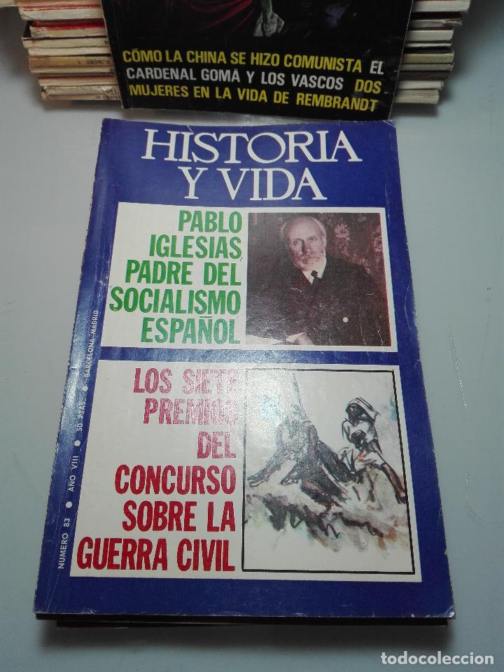 Coleccionismo de Revista Historia y Vida: TREMENDA COLECCIÓN DE 64 REVISTAS HISTORIA Y VIDA - AÑOS 60-70 - - Foto 3 - 75091995
