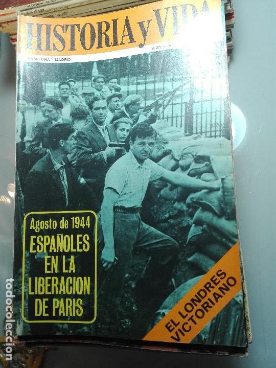 Coleccionismo de Revista Historia y Vida: TREMENDA COLECCIÓN DE 64 REVISTAS HISTORIA Y VIDA - AÑOS 60-70 - - Foto 8 - 75091995