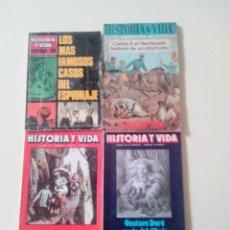 Coleccionismo de Revista Historia y Vida: LOTE 4 REVISTAS HISTORIA Y VIDA-ED. HISTORIA Y VIDA-AÑO 1977. Lote 75981819