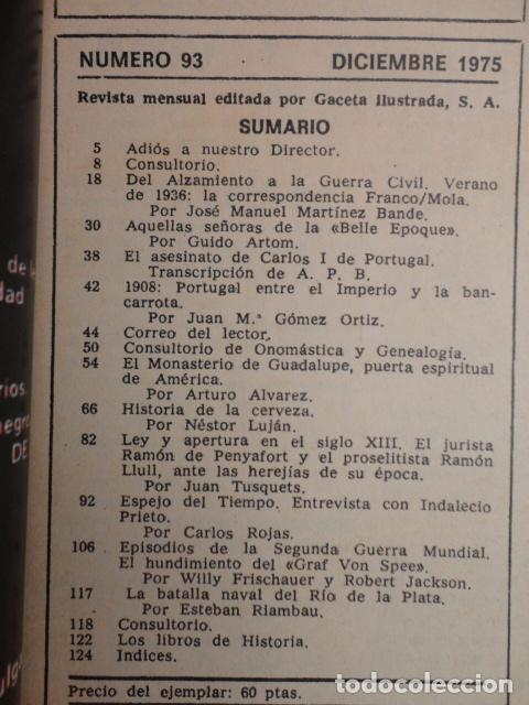 Coleccionismo de Revista Historia y Vida: REVISTA HISTORIA Y VIDA Nº 93 LA CORRESPONDENCIA INEDITA FRANCO - MOLA - 1.975 - Foto 2 - 69122901
