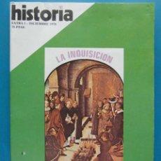 Colecionismo da Revista Historia y Vida: REVISTA HISTORIA. LA INQUISICION. REPRESION EN ESPAÑA. EXTRA I DICIEMBRE 1976. Lote 86146976