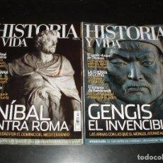 Coleccionismo de Revista Historia y Vida - REVISTA HISTORIA Y VIDA Nº 504 Y 505 PERSAS,ANIBAL,ROMA,GENGIS KHAN,2 REVISTAS - 93613365
