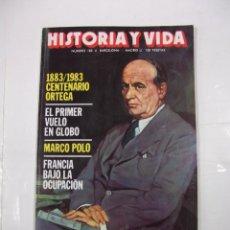 Coleccionismo de Revista Historia y Vida: HISTORIA Y VIDA Nº 183. EL PRIMER VUELO EN GLOBO. MARCO POLO. TDKR44. Lote 97908815