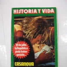 Coleccionismo de Revista Historia y Vida: HISTORIA Y VIDA Nº 109. AÑO X. CASANOVA Y SUS 122 MUJERES. TDKR44. Lote 97909827