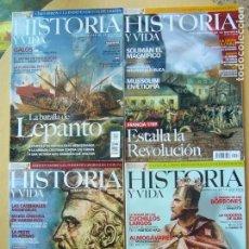 Coleccionismo de Revista Historia y Vida: LOTE 4 REVISTAS HISTORIA Y VIDA NOS. 432 - 443 - 446 - 457. Lote 98038059