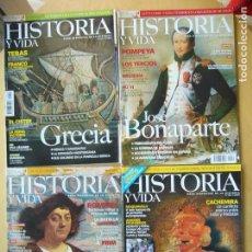 Coleccionismo de Revista Historia y Vida: LOTE 4 REVISTAS HISTORIA Y VIDA NOS.408, 440, 450, 454. Lote 98540491