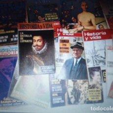 Coleccionismo de Revista Historia y Vida: LOTE DE 25 REVISTAS HISTORIA Y VIDA MUY ANTIGUAS AÑOS 60/70. Lote 99217887