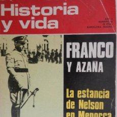 Coleccionismo de Revista Historia y Vida: HISTORIA Y VIDA Nº 54 SEPTIEMBRE 1972 AÑO V. FRANCO Y AZAÑA.. Lote 99480151