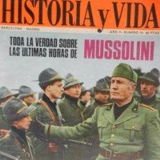Coleccionismo de Revista Historia y Vida: HISTORIA Y VIDA Nº14 AÑO II MAYO 1969.. Lote 99525023