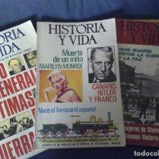 Coleccionismo de Revista Historia y Vida: REVISTA HISTORIA Y VIDA, 50 REVISTAS.. Lote 104982007