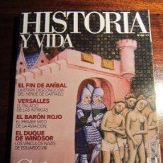 Coleccionismo de Revista Historia y Vida: HISTORIA Y VIDA Nº 468. CÁTAROS. ANIBAL. VERSALLES.BARÓN ROJO. Lote 108337055
