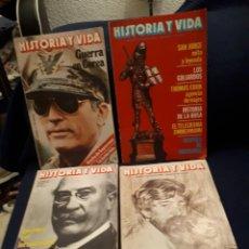 Coleccionismo de Revista Historia y Vida: LOTE 4 REVISTAS HISTORIA Y VIDA NÚMEROS 152 156 162 169. Lote 110923996