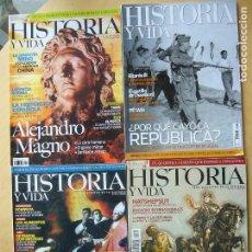 Coleccionismo de Revista Historia y Vida: LOTE 4 REVISTAS HISTORIA Y VIDA NOS. 423-439-445-493. Lote 112973611